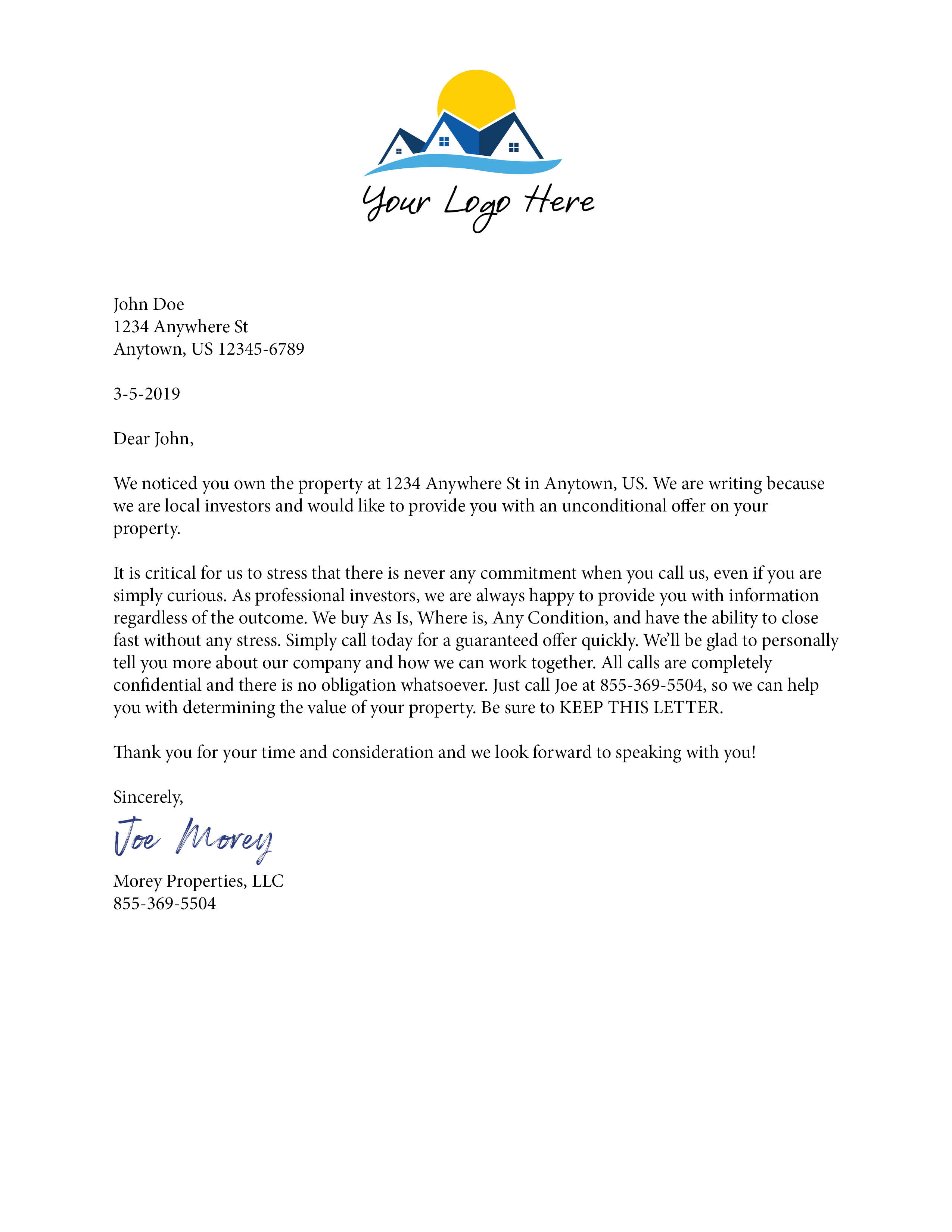 Professional Letter 3