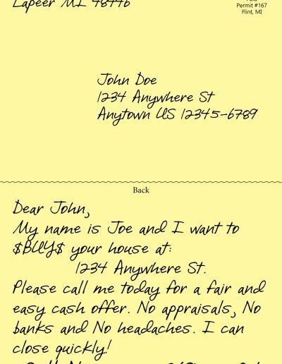 handwritten postcard #1