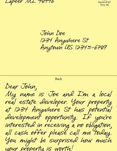 handwritten postcard 2